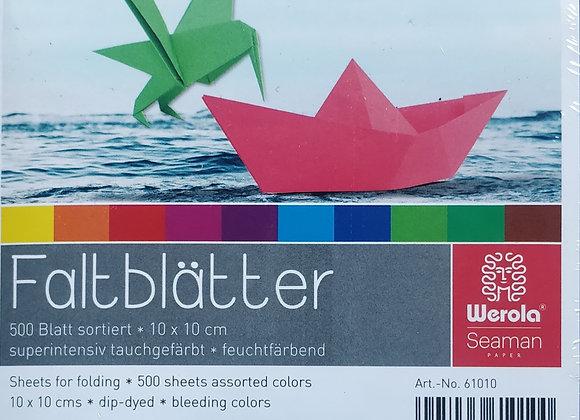 German Origami Paper -10cm x 10cm
