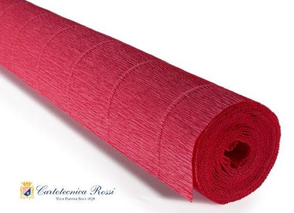 Italian Crepe Paper - 180g roll -17A6 Pretty Pinkish Rusty Red