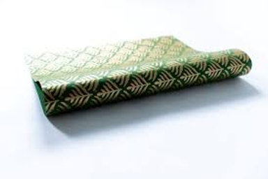 Green Block Print Gift Wrap