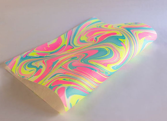 Neon Waves Marbled Gift Wrap