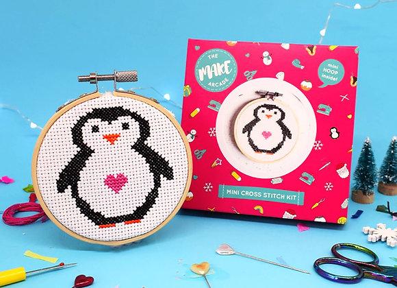 Mini Penguin Cross Stitch Kit