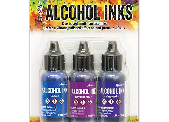 Tim Holtz Alcohol Inks -Indigo/Violet