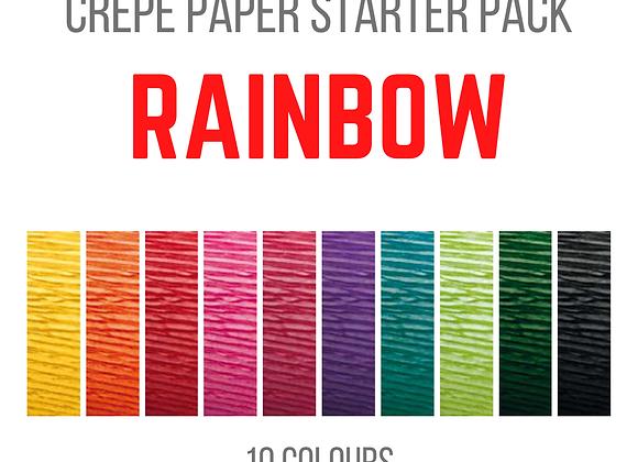 Crepe Paper Starter Pack - Rainbow
