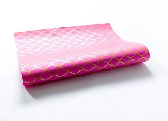 Pink Block Print Gift Wrap