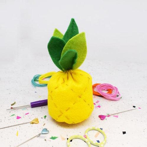 Pineapple Felt Sewing Kit