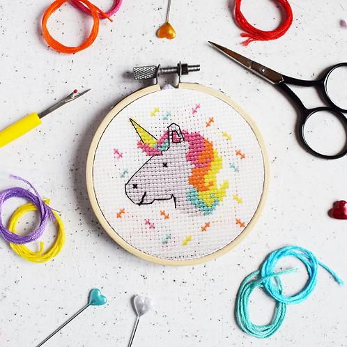 Magical Unicorn Mini Cross Stitch Kit