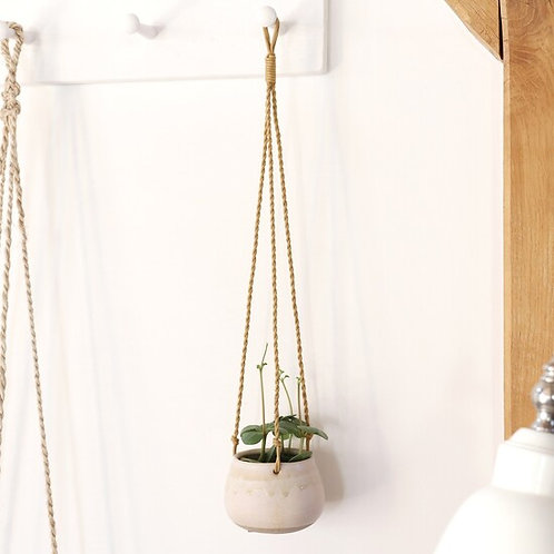 Small Natural Hanging Planter