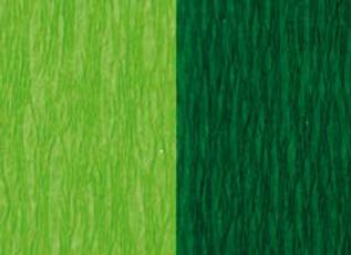 Doublette Crepe Paper - Light Green/Moss