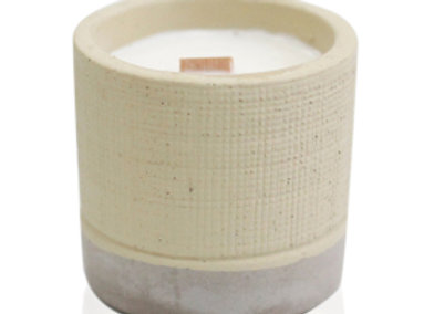 Concrete Wooden Wick Candle - Coffee in the Club