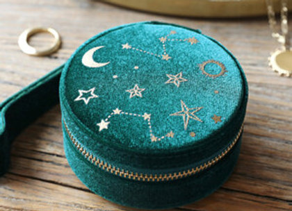 Starry Nights Round Jewellery Case