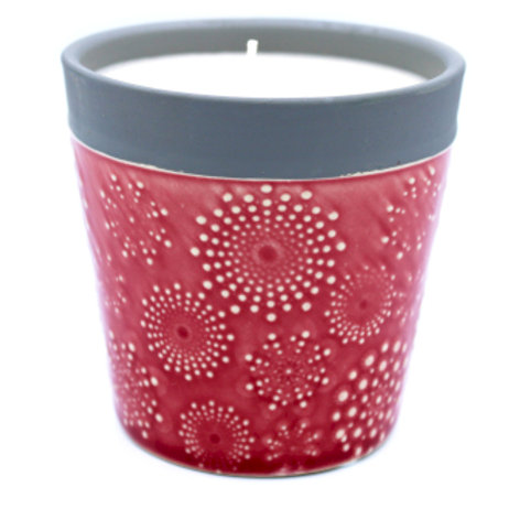 Home is Home Candle Pot -Rambling Rose