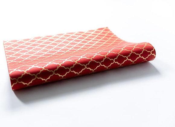 Red Block Print Gift Wrap
