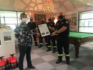 Orange Fire Brigade re-home their well loved Billiard Table