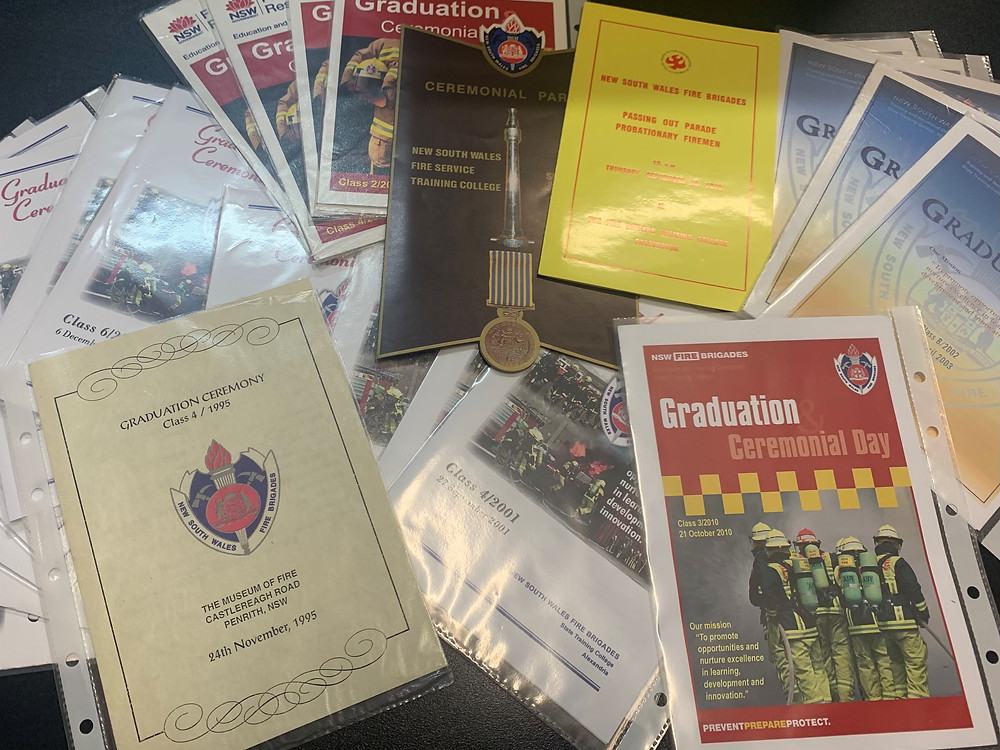 Some of the Graduation items in the Museum collection