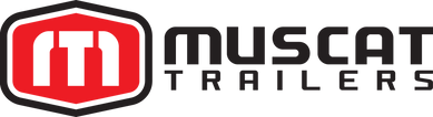 Logo - Muscat Trailers - Black frame-Red