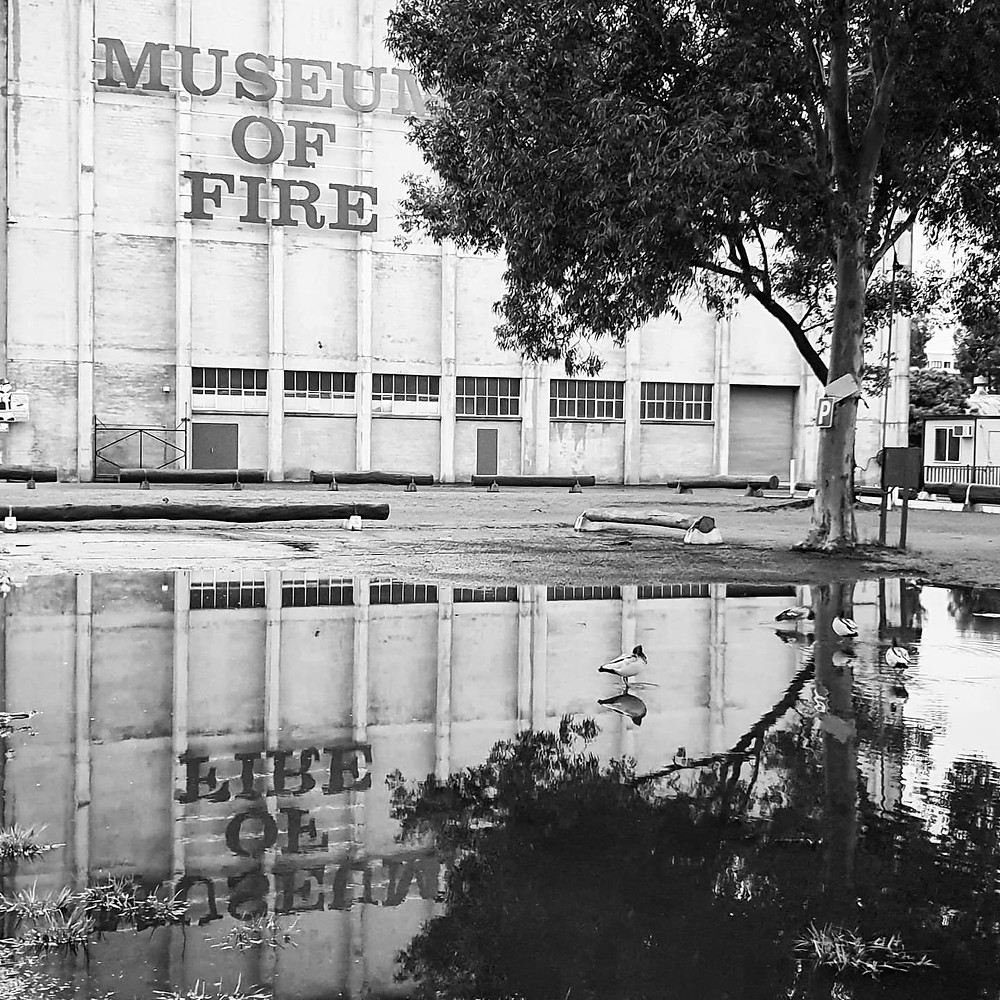 Museum of Fire grounds flooded (March 2021)