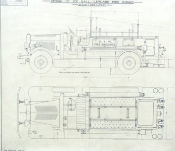 NSWFB drawing of the bodywork for the FT3 pumper