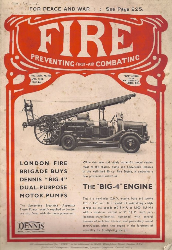 "Front cover of 'Fire', April 1936, featuring the ""Big 4""."