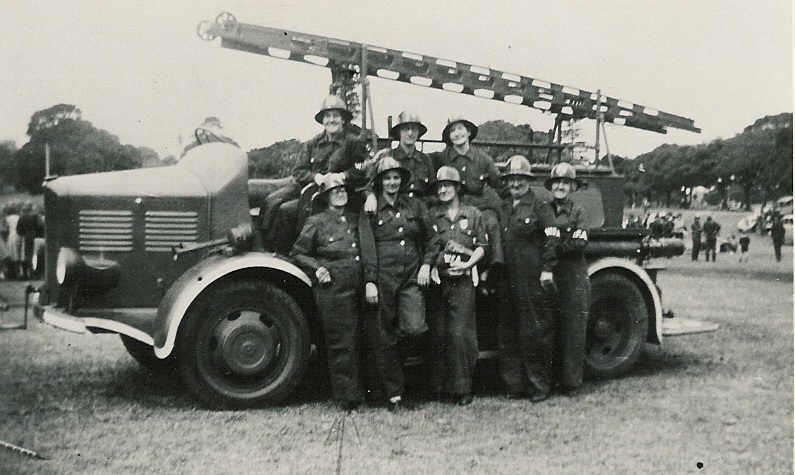 Members of the Women's Fire Auxiliary, c. 1944