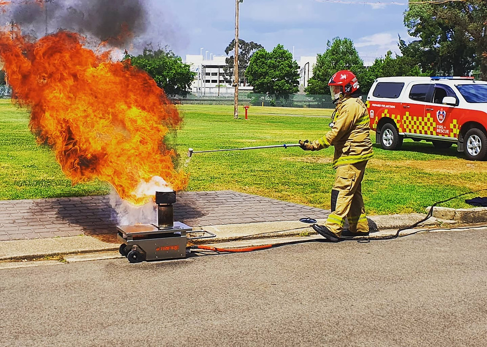 FRNSW conduct a fire safety demonstration during the school holidays