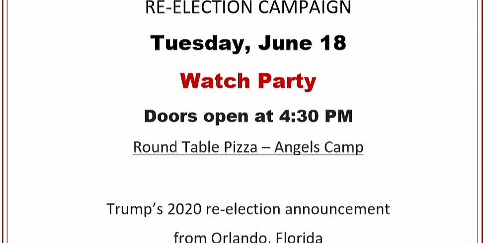 Trump Re-election Announcement Watch Party