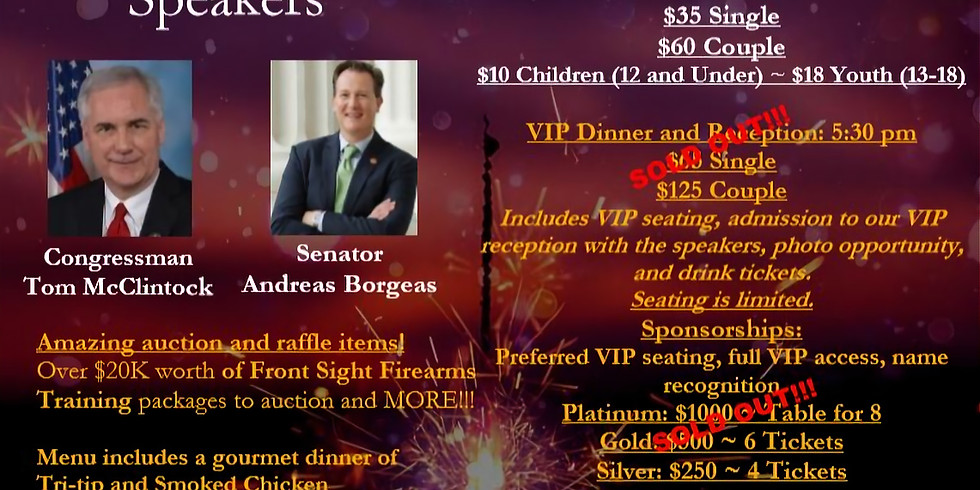 2019 Lincoln Day Dinner- October 25th