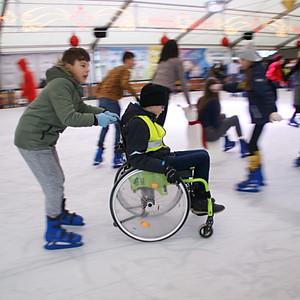 L5 ging schaatsen in Lebbeke