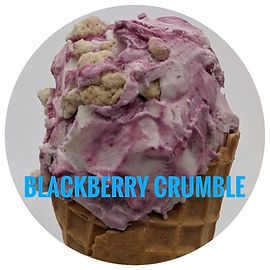 Blackberry Crumble Ice cream
