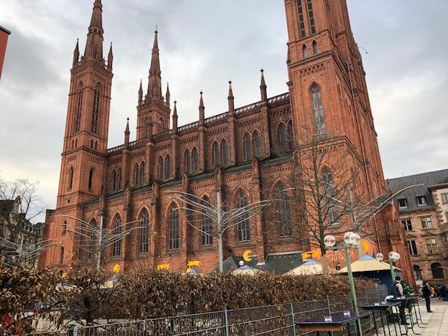 Cathedral in downtown Wiesbaden. Taken by Sarah Greene Dec 15, 2017