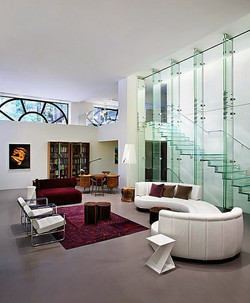 In Wall & Glass Stairs