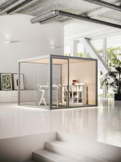 Sounproof Cube Wood & Glass