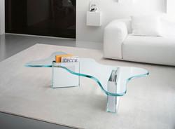 Glass Coffee Table and Magazine  Storage