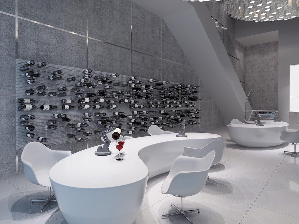 Futuristic Wine Tasting Room