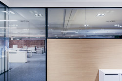 Wood & Glass Partition