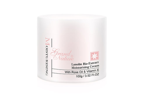 Lanolin Bio-Extract Moisturising Cream with Rose Oil & Vitamin E