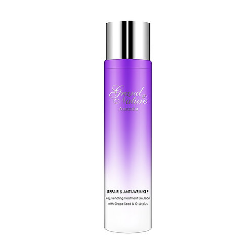 Repair & Anti-wrinkle Rejuvenating Treatment Emulsion with Grape Seed & Q10 plus