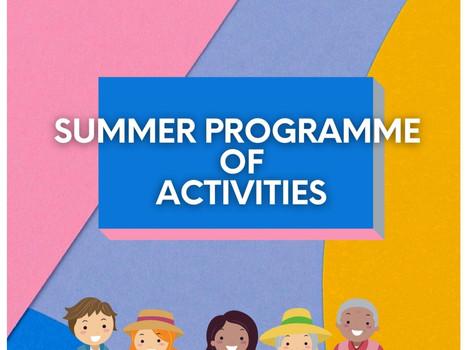 Summer Community Programme of Activities