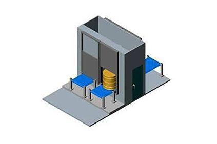 3D-model of Airlock Doors and Enclosures