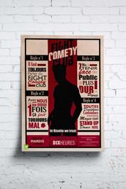Affiche du Fight Comedy Club