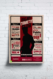 Affiche du Fight Comedy Club