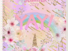 Pretty Girly Design Notebooks, Journals, Planners - personalized -trending birthday gifts for girls