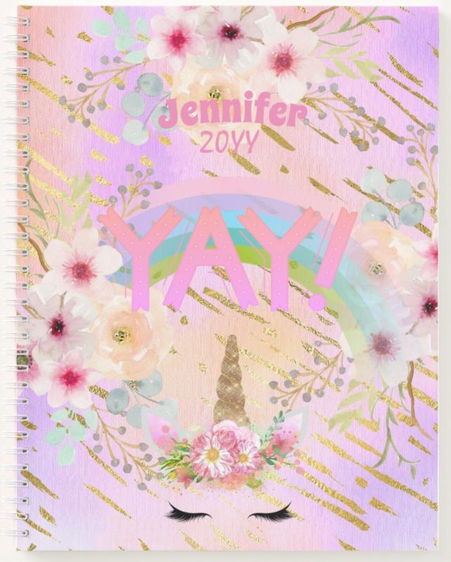 Pretty girly designs notebook