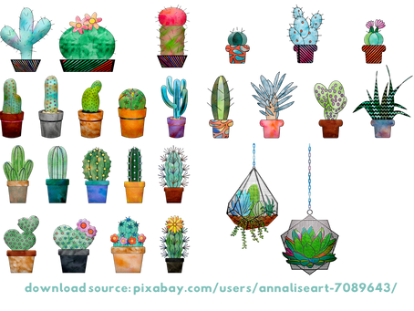 FREE watercolor cacti art printables and why Succulents make the perfect wedding flower