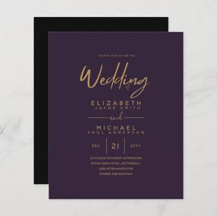 modern_purple_gold_budget_wedding_invite