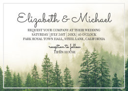 Marrying with the FAE - Forrest Magic Wedding Stationery