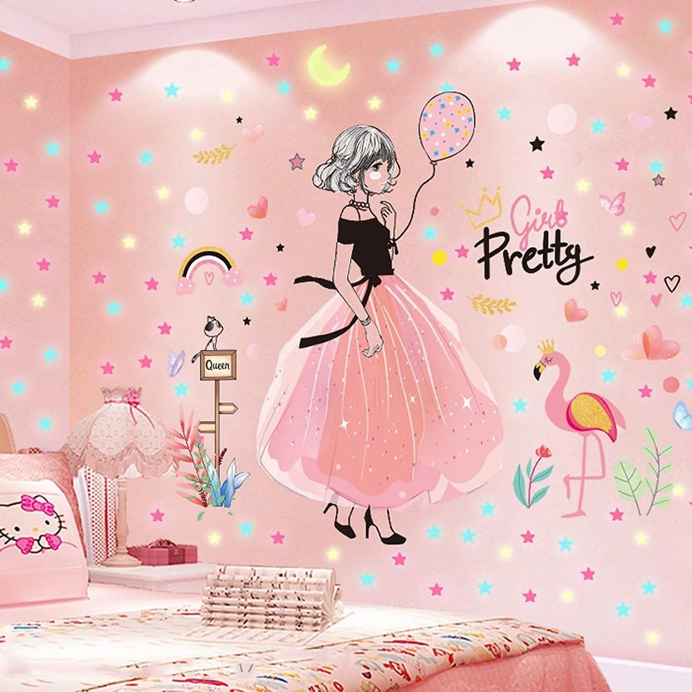 Pretty Girly Bedroom Wallpaper