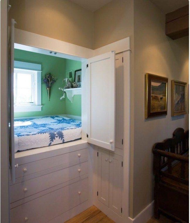 Bedroom in a cupboard