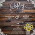 FREE Wedding Invitation Download - Rustic Sunflowers and Lace