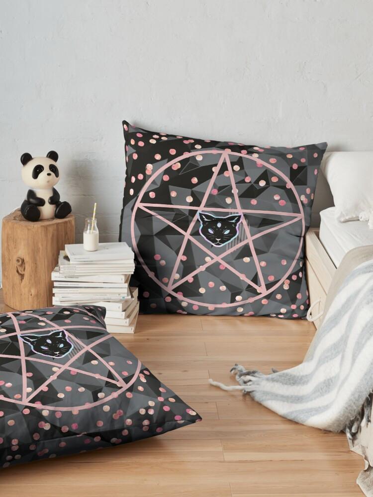 pretty girly designs modern teen witch pillows