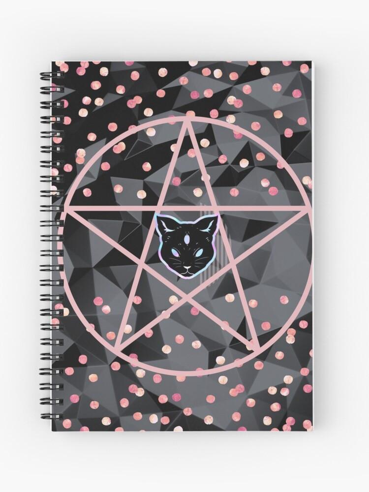 pretty girly designs modern teen witch notebook grimoire